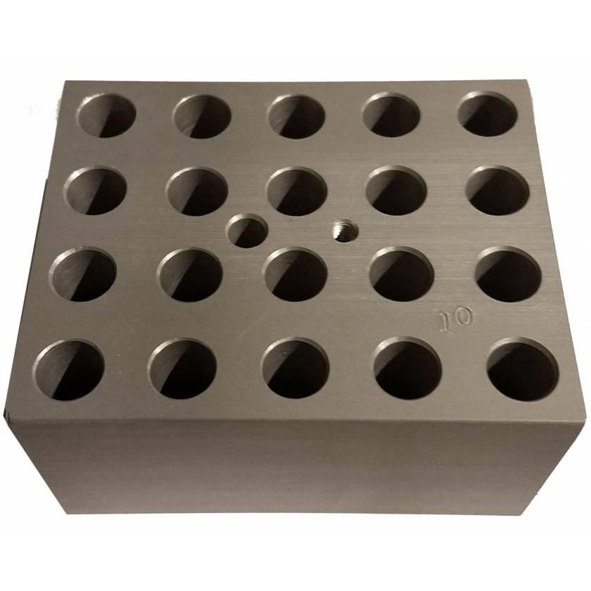Block For Digital Dry Bath - 20 x 10mm or 20 x 2ml Tubes