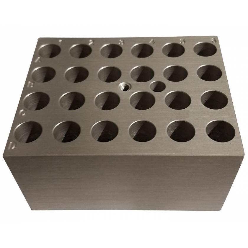 Block For Digital Dry Bath - 24 x 1.5ml or 2ml Tubes