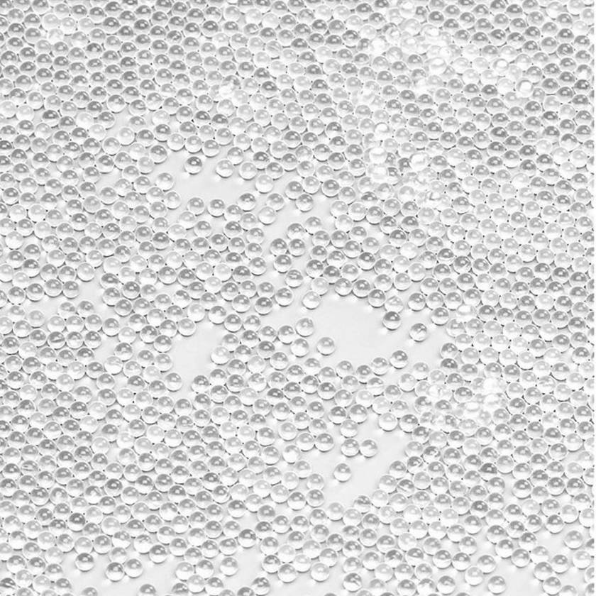 Bulk Beads, Silica (glass), 0.5mm, acid washed, 200g