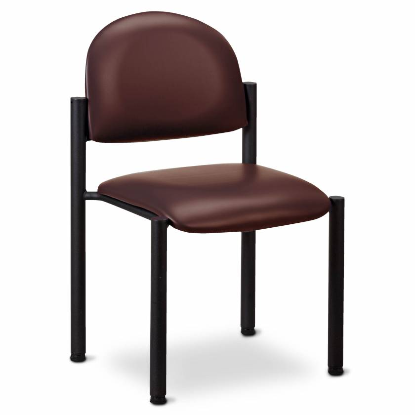 Clinton Model C-40B Premium Side Chair With Wall Guard & No Arms (Burgundy Upholstery)