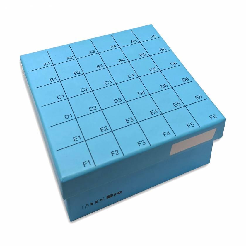 MTC Bio C2580-36 Cardboard Freezer Box with Hinged Lid for 36 Screw-Cap 5mL MacroTubes