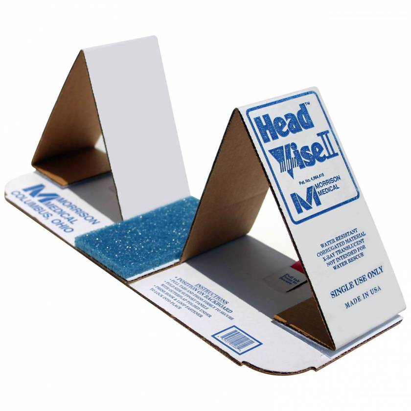 Improved Head Vise II Disposable Cardboard Head Immobilizer