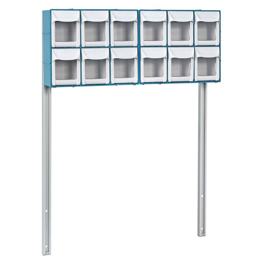 DETECTO 12-Bin Organizer with Accessory Bridge for Rescue and Whisper Series Medical Carts