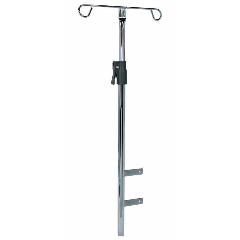 DETECTO Adjustable Chrome IV Pole for Rescue and Whisper Series Carts