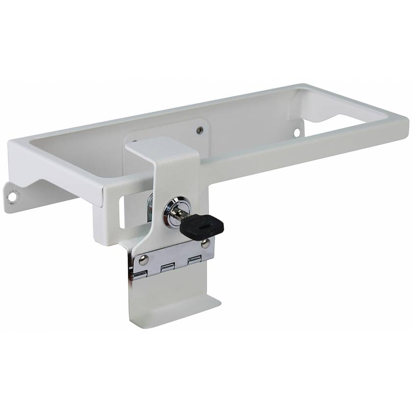 DETECTO Metal Sharps Container Holder with Accessory Rail for Rescue Series Medical Carts