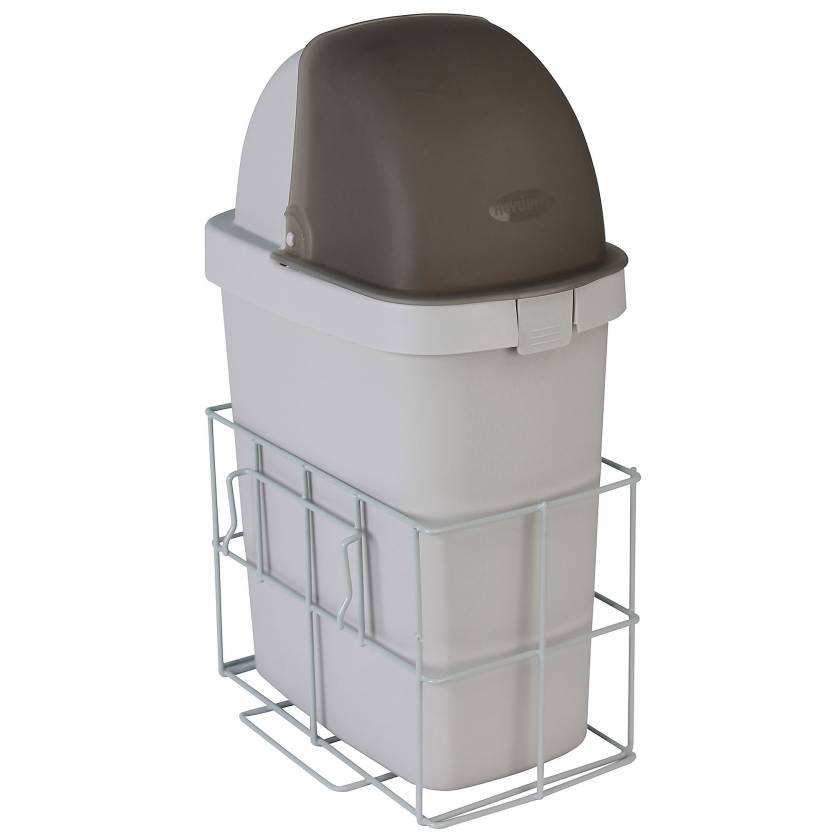 DETECTO Waste Bin with Accessory Rail for Rescue Series Medical Carts