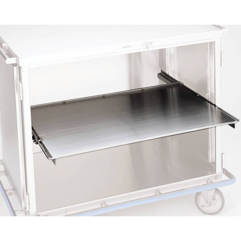 Pedigo Stainless Steel Roll Out Solid Shelf