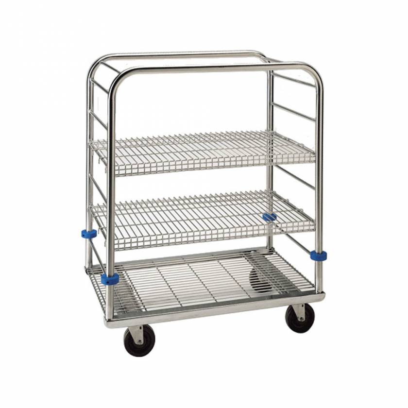 "Pedigo Stainless Steel Autoclave Cart - 45 3/8"" Height"