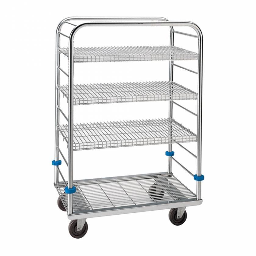 "Pedigo Stainless Steel Autoclave Cart - 55 3/8"" Height"