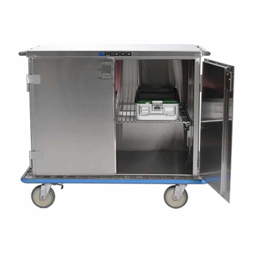 Pedigo Double Door Stainless Steel Surgical Case Cart