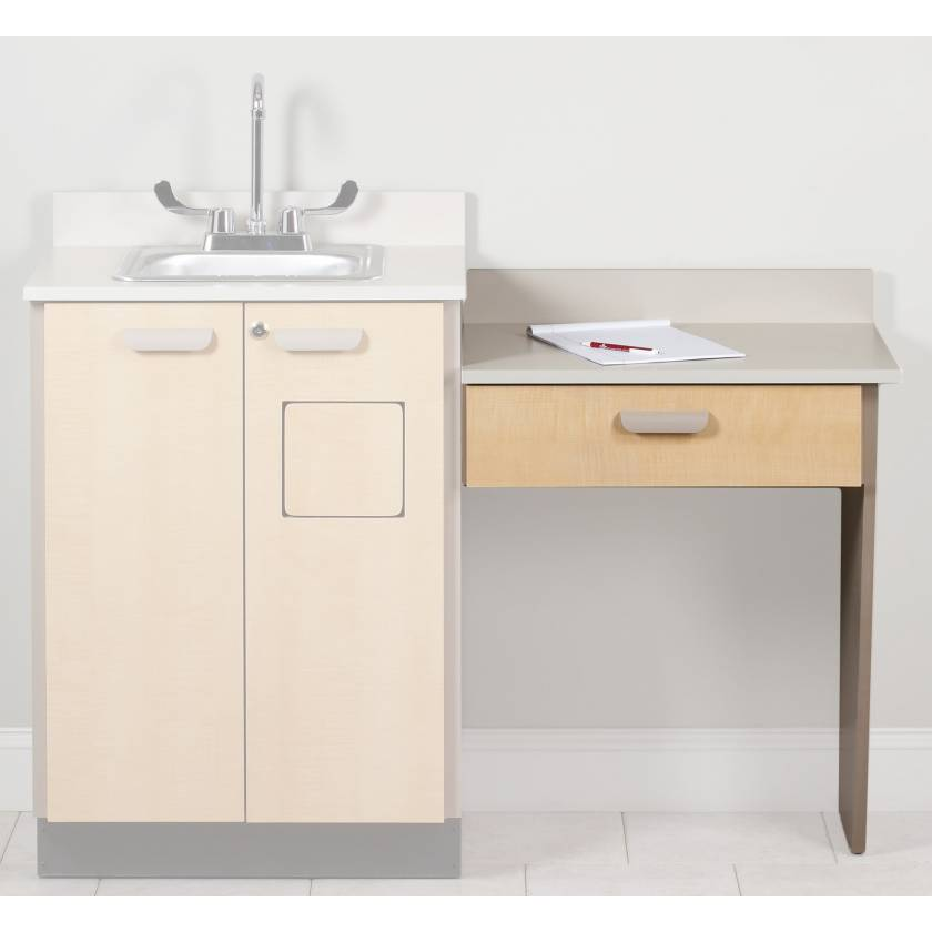 Cabinet Option-Wall Mount Desk with 1 Leg and 1 Drawer