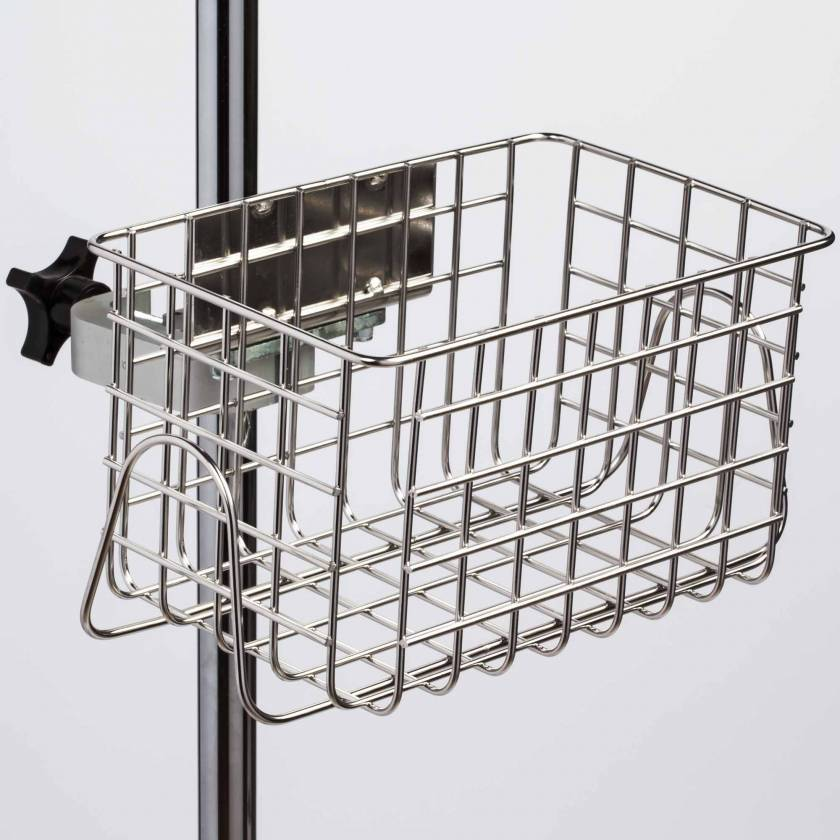 "Clinton IV-52S Heavy Duty Stainless Steel Wire Basket - 12"" W x 6"" H x 6.5"" D"