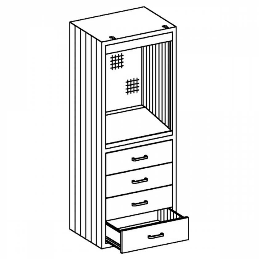 """Blickman Model DC24 Console Desk Cabinet 24 1/8""""W x 60""""H x 18""""D"""
