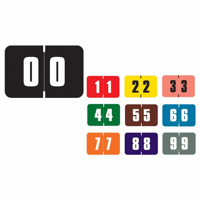 """Digi Color Match DCNM Series Numeric Color Code Roll Labels - 1""""H x 1 1/2""""W"""