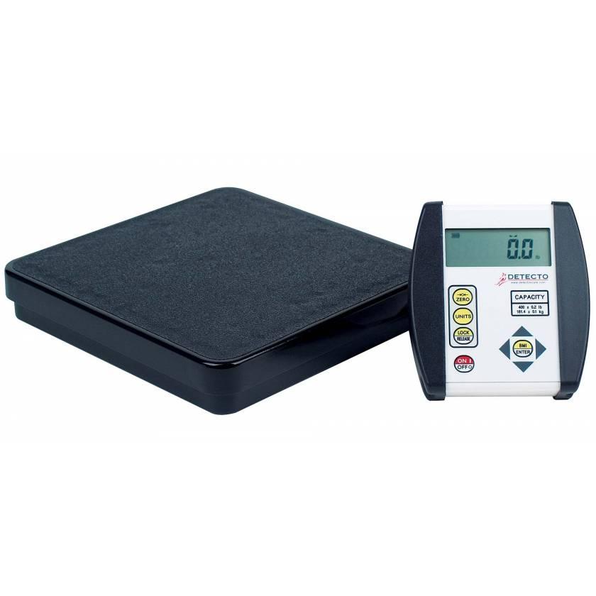 Detecto DR400-750 Digital Healthcare Scale BMI Calculation 400 lb Capacity