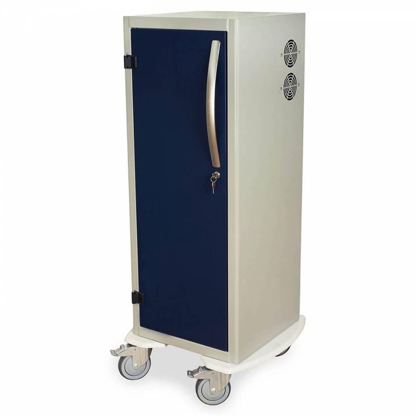 "Harloff Model DSC24T-DP Tall Savary Dilator Drying Cart with HEPA Filter for Dilators up to 39""L - Key Lock"