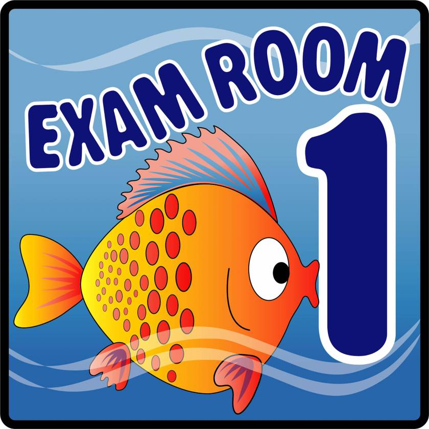 Clinton EX1-O Ocean Series Exam Room 1 Sign