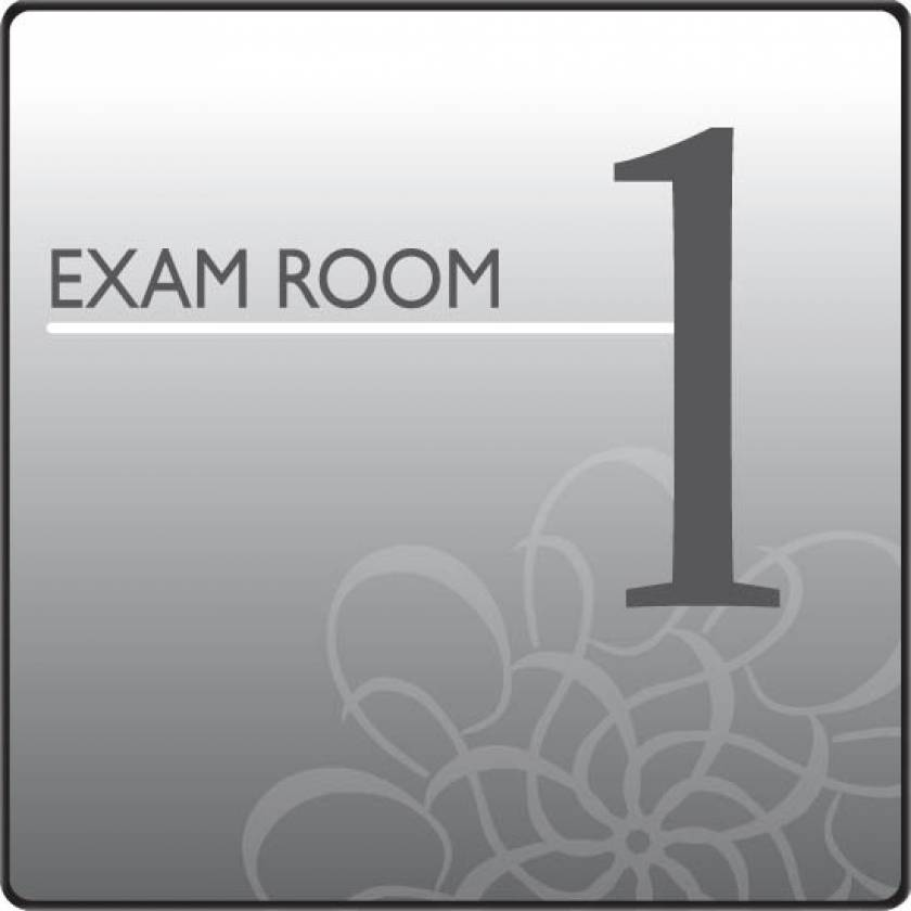 Clinton EX1-S Standard Exam Room Sign 1
