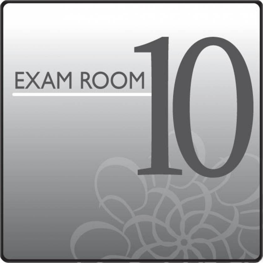 Clinton EX10-S Standard Exam Room Sign 10
