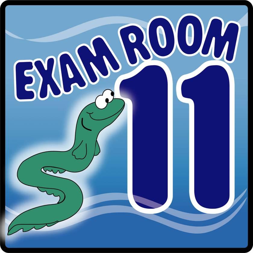 Clinton EX11-O Ocean Series Exam Room 11 Sign