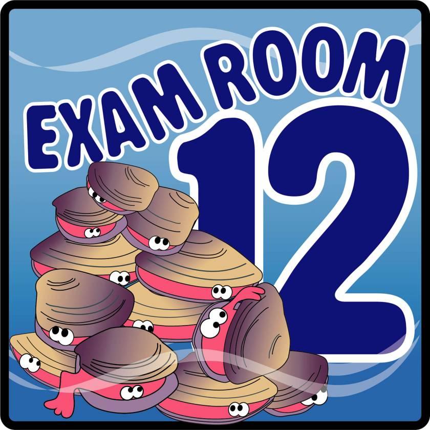 Clinton EX12-O Ocean Series Exam Room 12 Sign