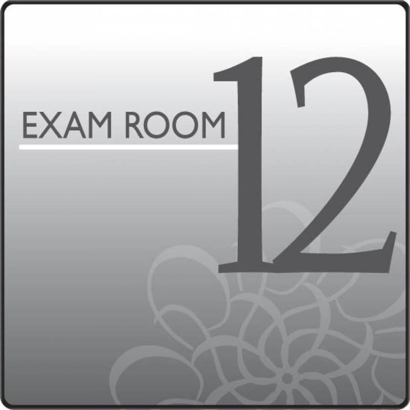 Clinton EX12-S Standard Exam Room Sign 12