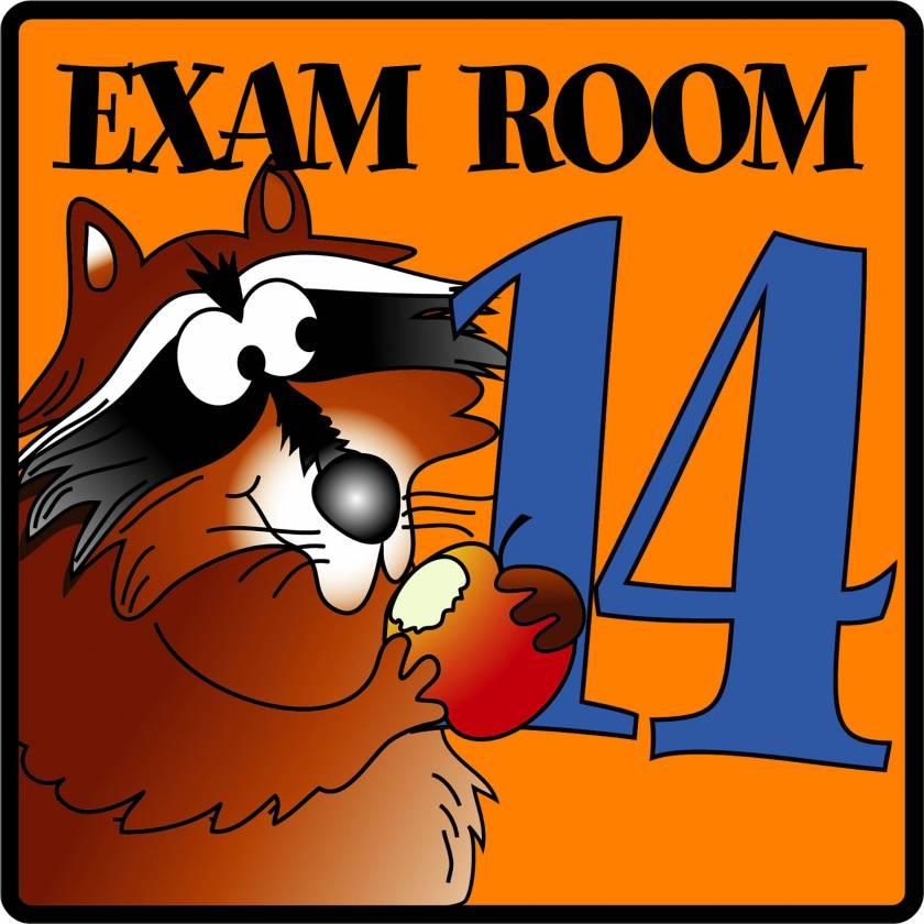 Clinton EX14 Exam Room 14 Sign