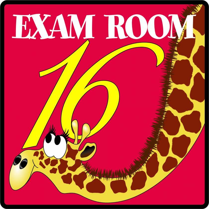 Clinton EX16 Exam Room 16 Sign