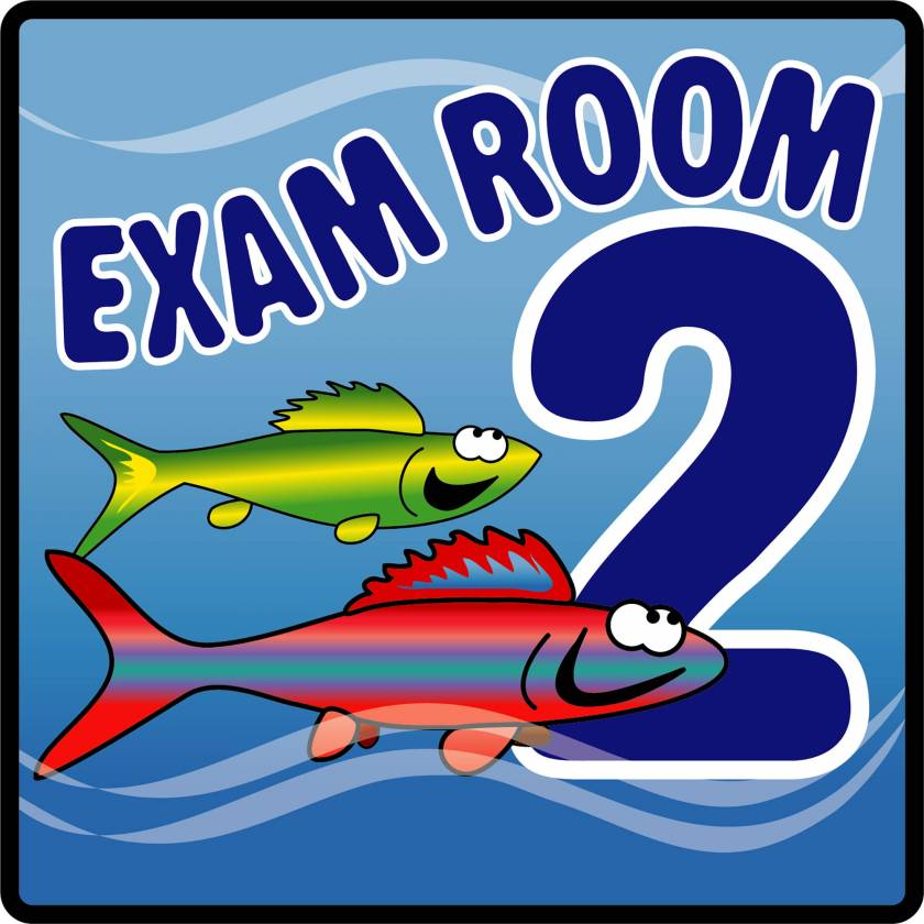 Clinton EX2-O Ocean Series Exam Room 2 Sign