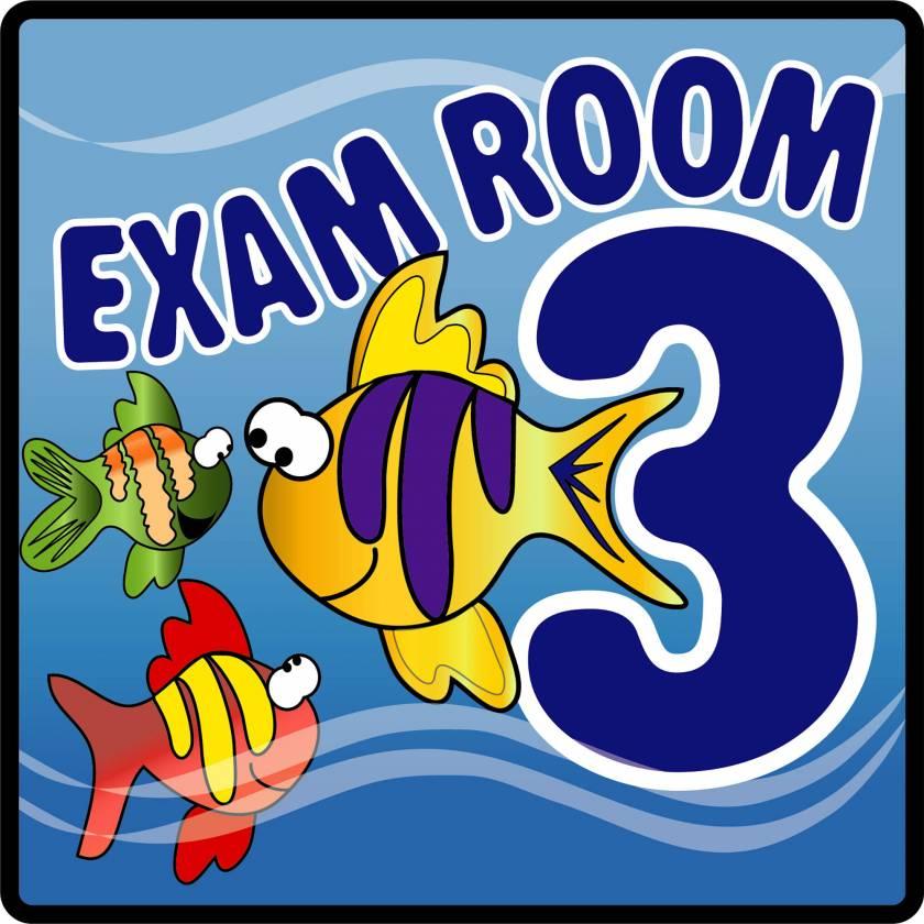 Clinton EX3-O Ocean Series Exam Room 3 Sign
