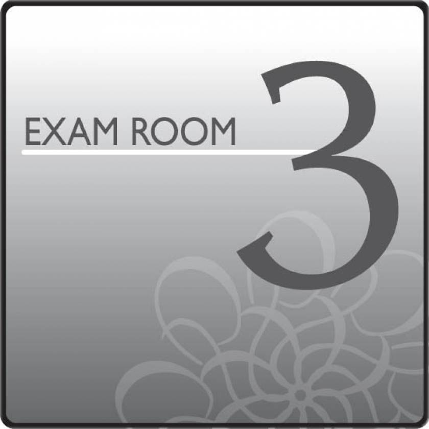 Clinton EX3-S Standard Exam Room Sign 3