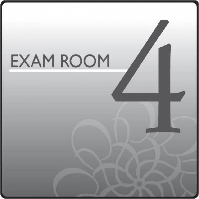 Clinton EX4-S Standard Exam Room Sign 4