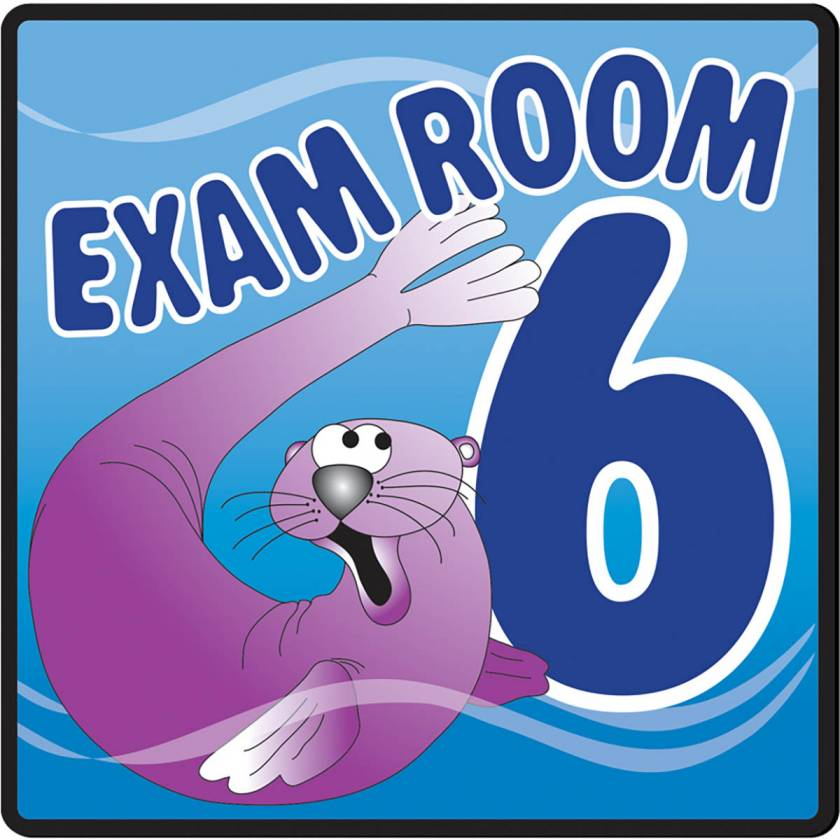 Clinton EX6-O Ocean Series Exam Room 6 Sign