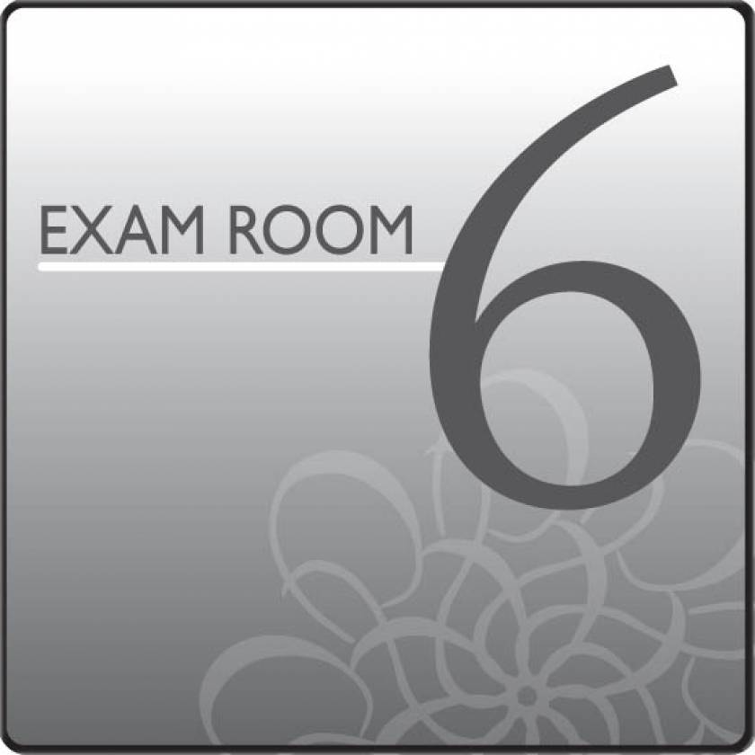 Clinton EX6-S Standard Exam Room Sign 6