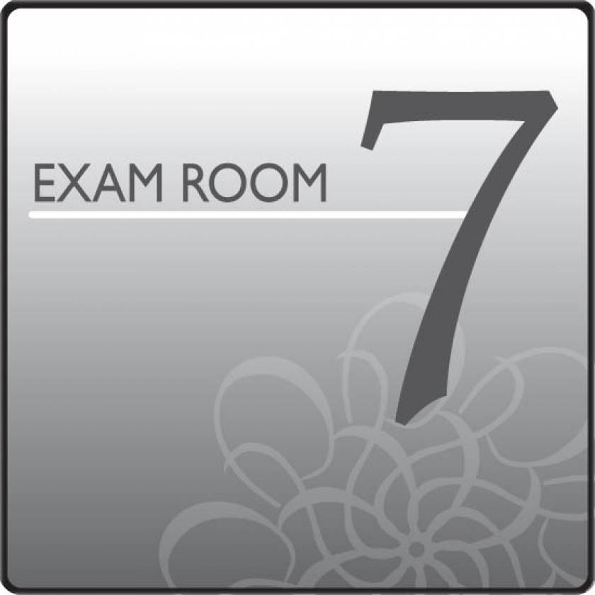 Clinton EX7-S Standard Exam Room Sign 7