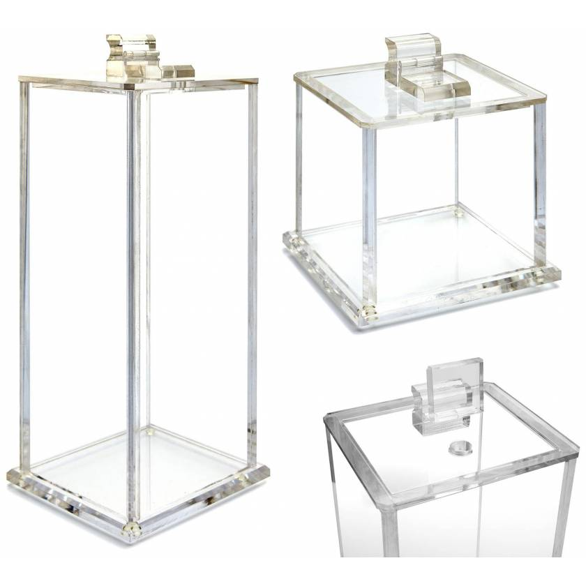 Flip-Top Acrylic Waste Containers