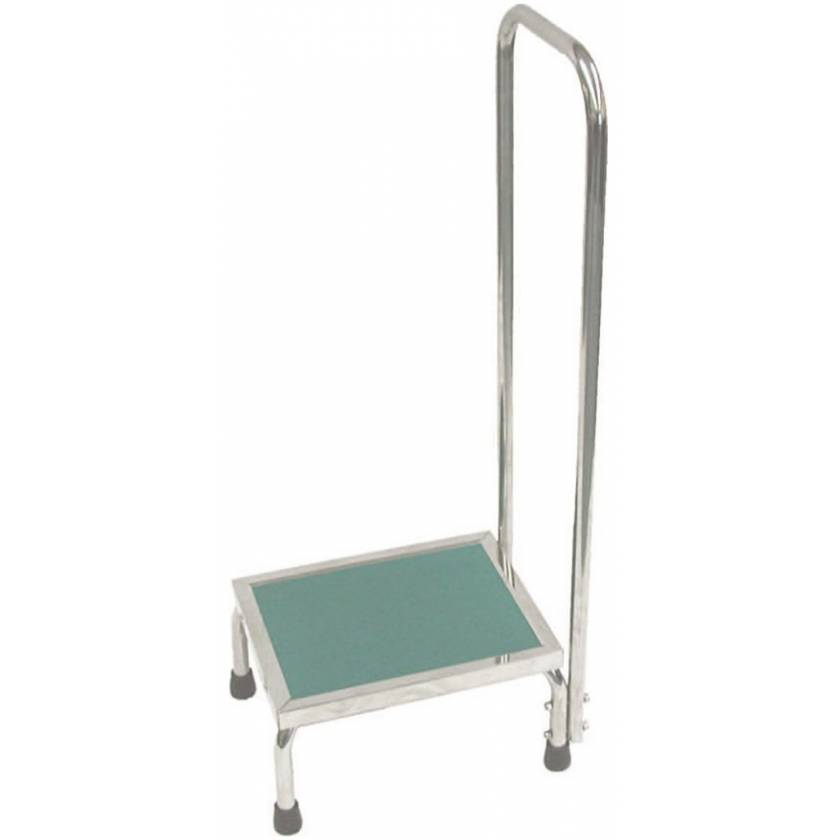 MRI Non-Magnetic Step Stool with Handrail