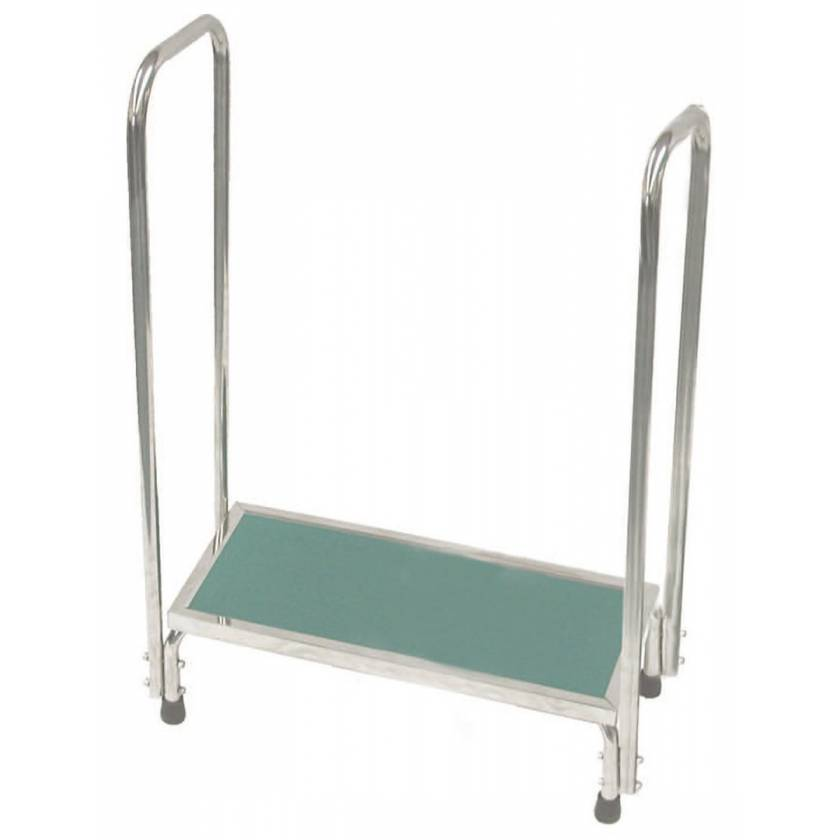 MRI Non-Magnetic Single Step Stool with Dual Handrails