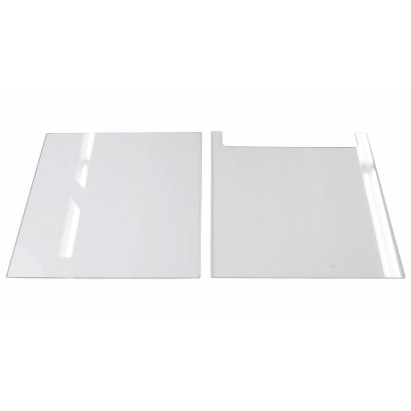 Glass Plate Set (18cm x 16cm) for Jordan Dual-Slab Vertical Electrophoresis System JVD-80