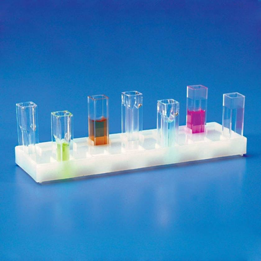 12-Place Holder for Spectrophotometer Cuvettes - Polyethylene (PE)