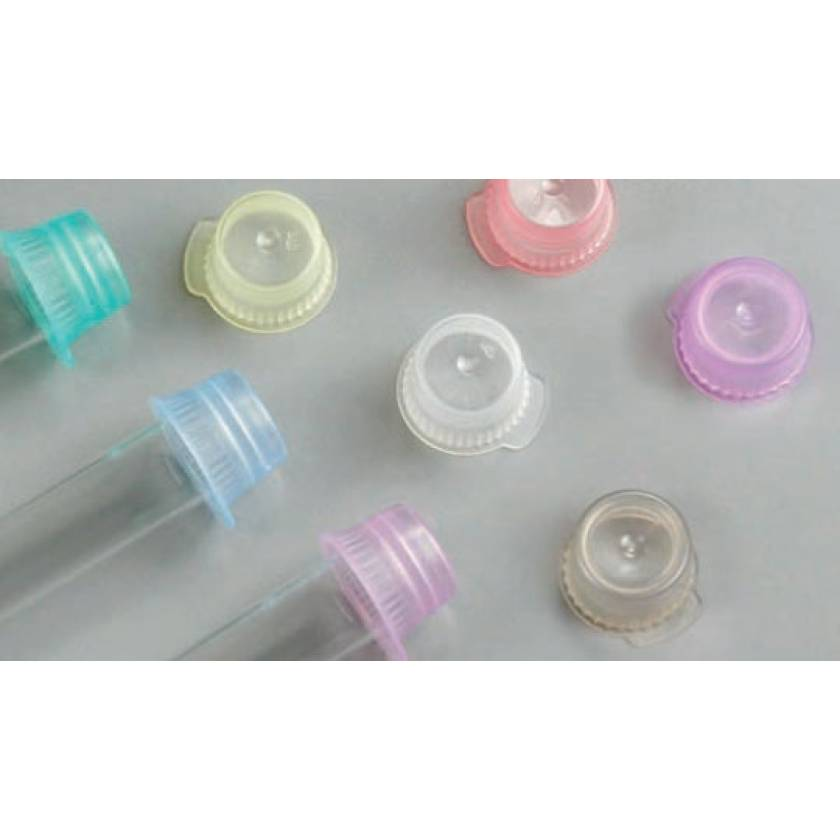12mm/13mm Snap Caps for Vacuum and Test Tubes - Polyethylene (PE) - Single Thumb Tab