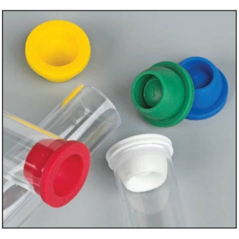 13mm Plug Caps for Vacuum and Test Tubes - Thermoplastic Elastomer (TPE)