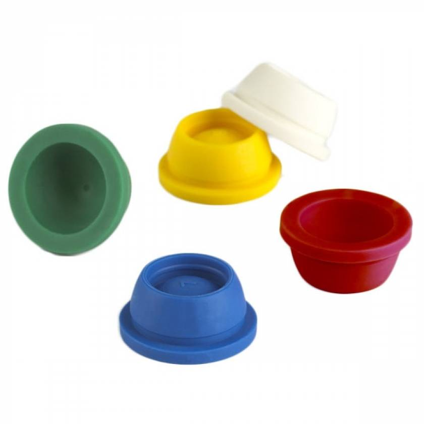 16mm Plug Caps for Vacuum and Test Tubes - Thermoplastic Elastomer (TPE)