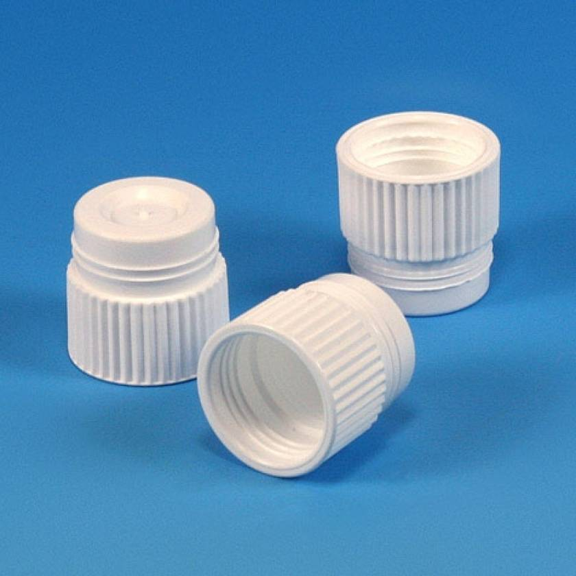 17mm Plug Cap - Polyethylene (PE) - White