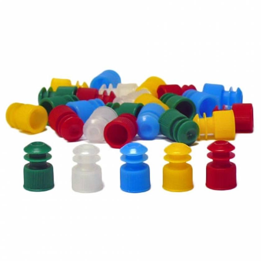 12mm Flanged Plug Cap - Polyethylene
