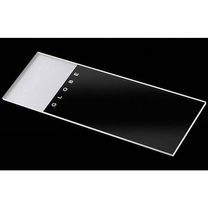 Microscope Slides - Glass - Frosted 1 End 1 Side - 90° Ground Edges 90° Corners - 25mm x 75mm