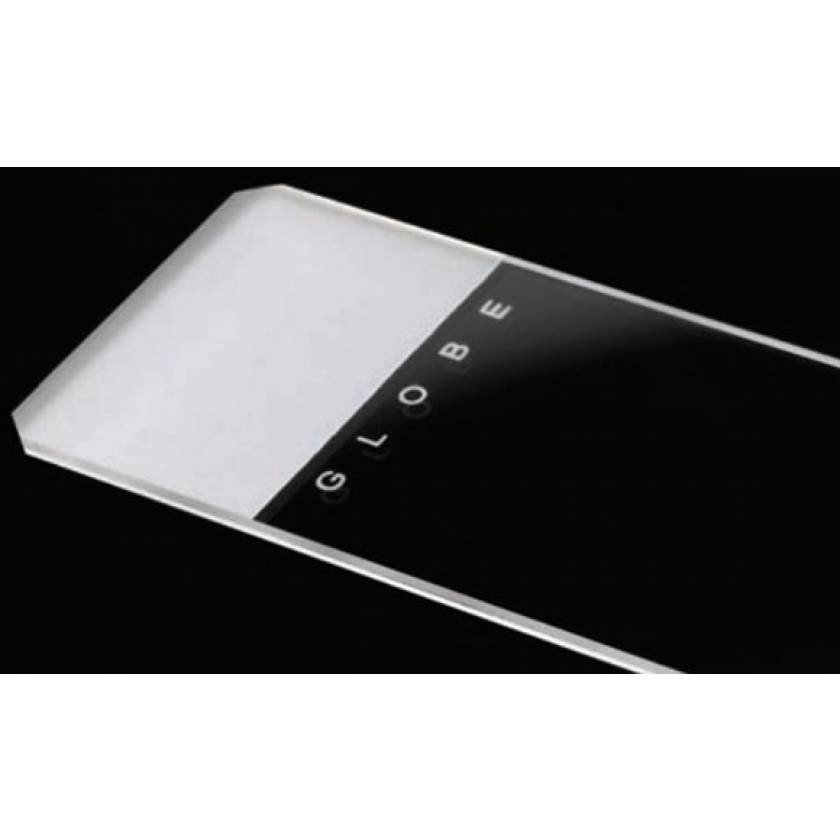 Microscope Slides - Glass - Frosted 1 End 1 Side - 45° Beveled Edges Clipped Corners - 25mm x 75mm
