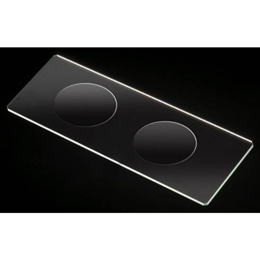 Microscope Slides - Glass - 90° Ground Edges Safety Corners - Double Cavity - 25mm x 75mm