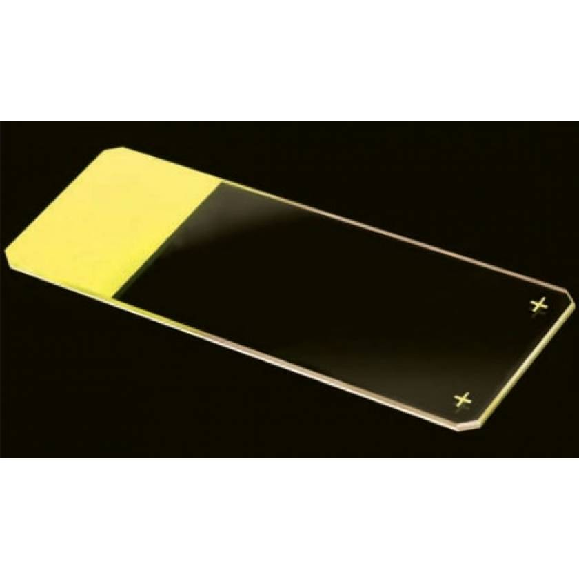 Microscope Slides - Diamond White Glass - Positive Charged - 45° Beveled Edges Clipped Corners - Color Coded - 25mm x 75mm