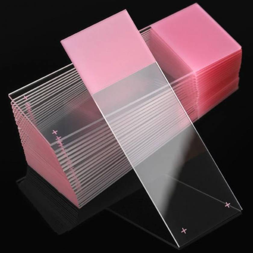 Microscope Slides - Diamond White Glass - Positive Charged - 90° Ground Edges 90° Corners